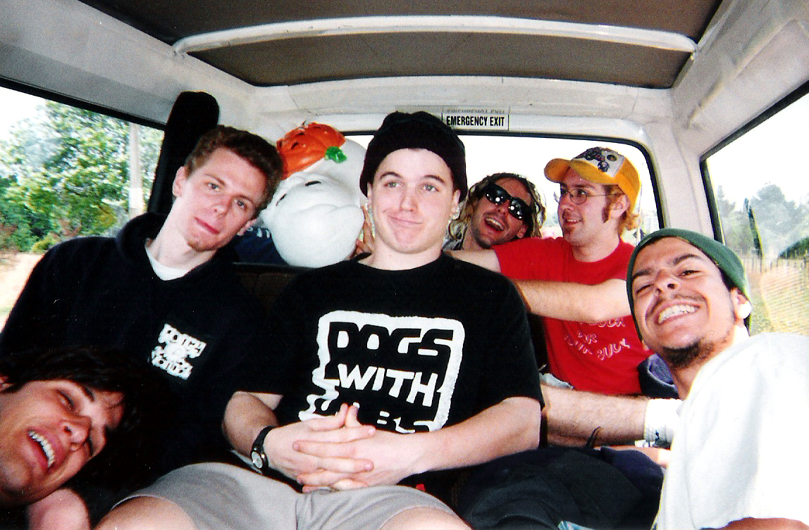 band photo in the van new zealand