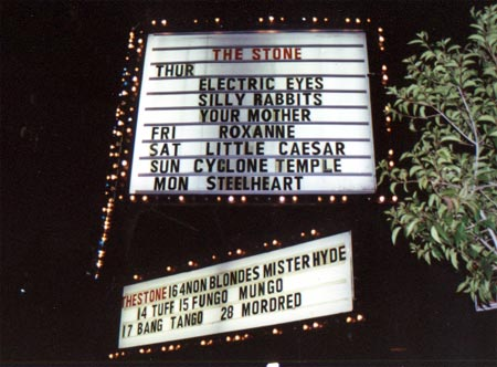 1991 The Stone Marquee